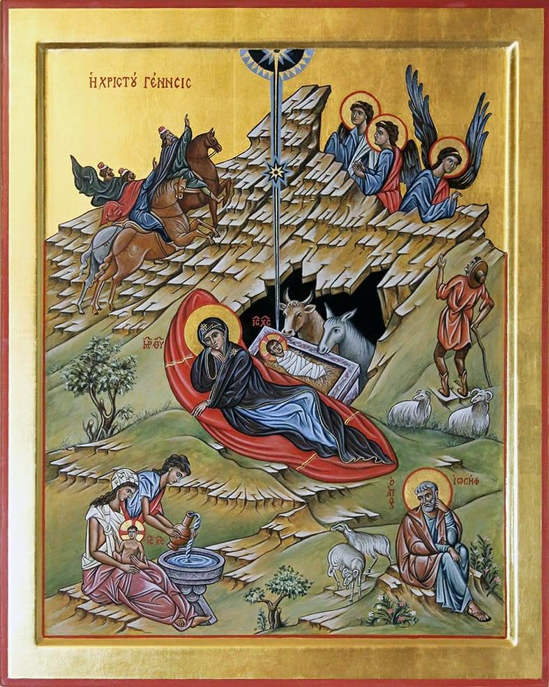 """La """"Natività Di Gesù Cristo"""" – Icona Di Enrico Benedetti (OFS Sabbioncello)"""
