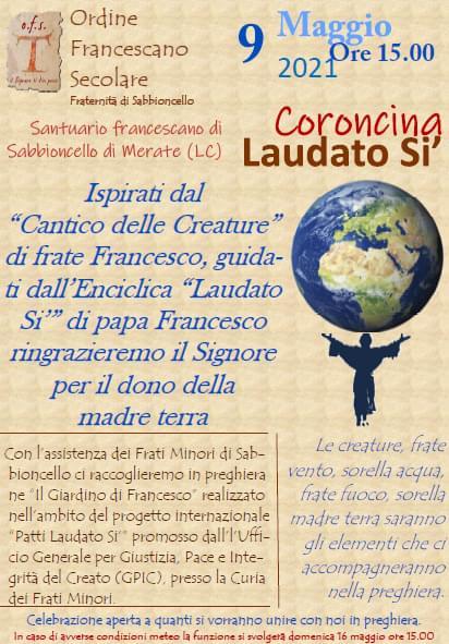 """Presentazione Progetto """"Patti Laudato Si'"""" Fraternità OFS Di Sabbioncello – Recita Della """"Coroncina Laudato Si'"""""""